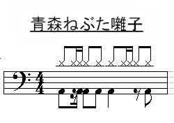 青森ねぶた囃子ドラム譜