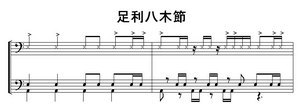 足利八木節ドラム譜